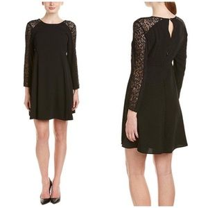 Cece Dress Black Lace Long Sleeve Lace Shift